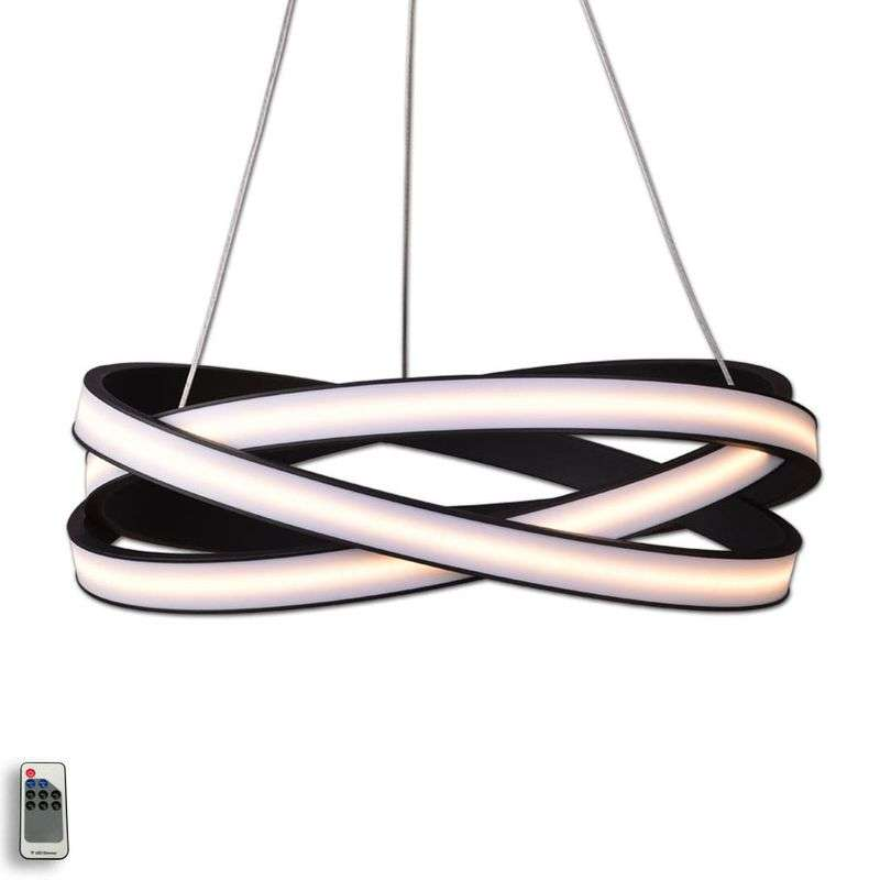 Tivano - decoratieve LED hanglamp in zwart