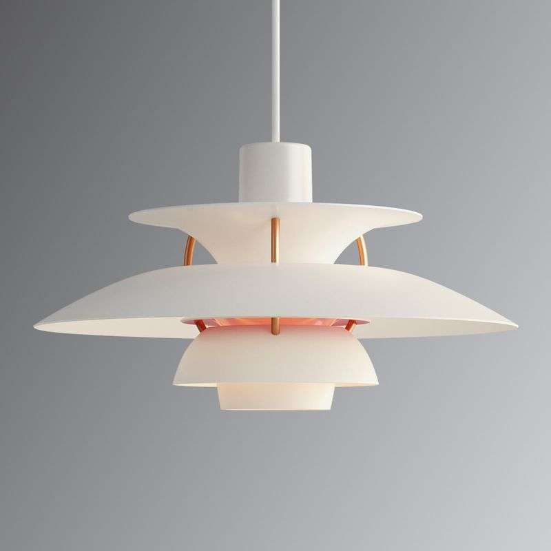 PH 5 Mini - moderne designer hanglamp wit