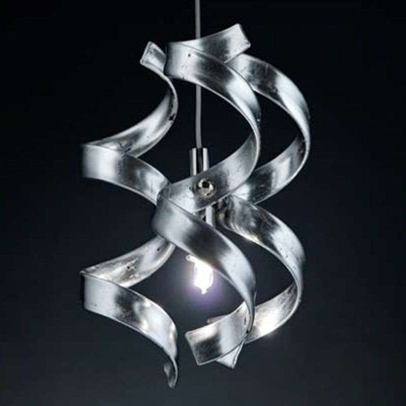 Smalle hanglamp Silver, 1-lichts