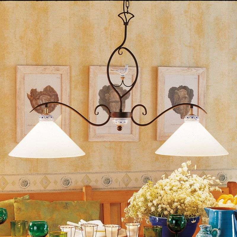 PROVENCE CHALET, 2-lichts hanglamp