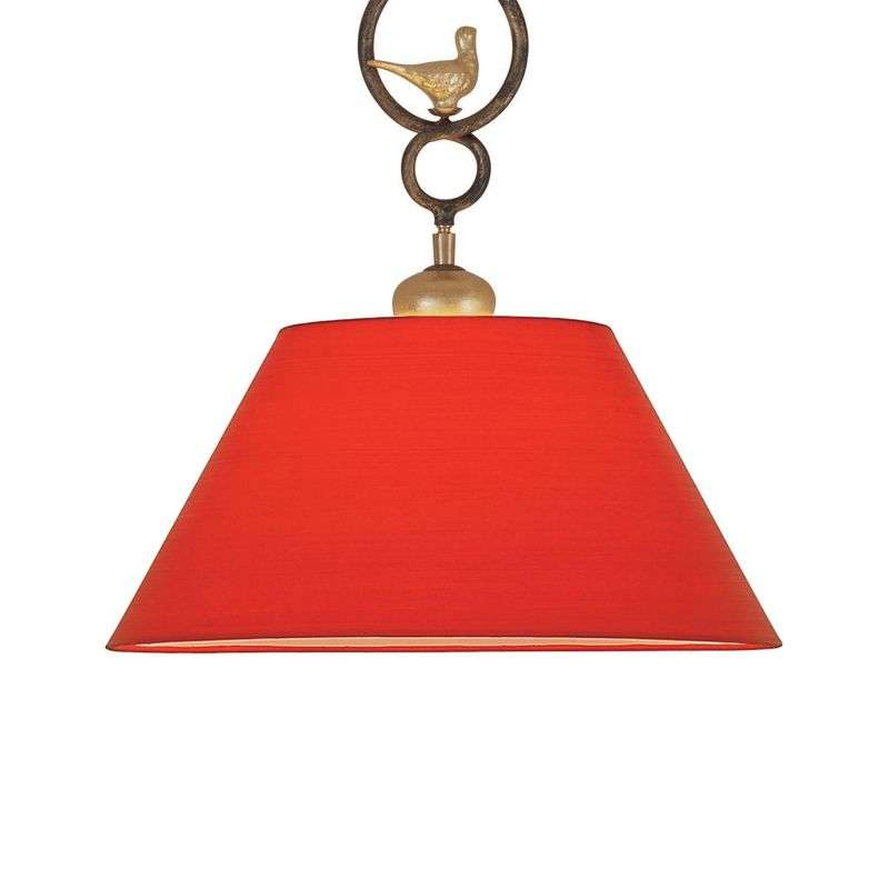 Decoratieve hanglamp PROVENCE CHALET in rood