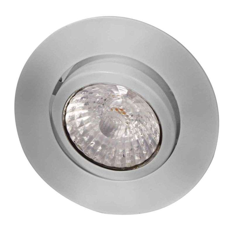 Led-inbouwspot Rico, dim to warm, geb. staal