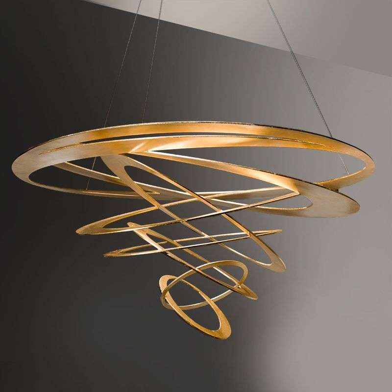 Loop design hanglamp in goud