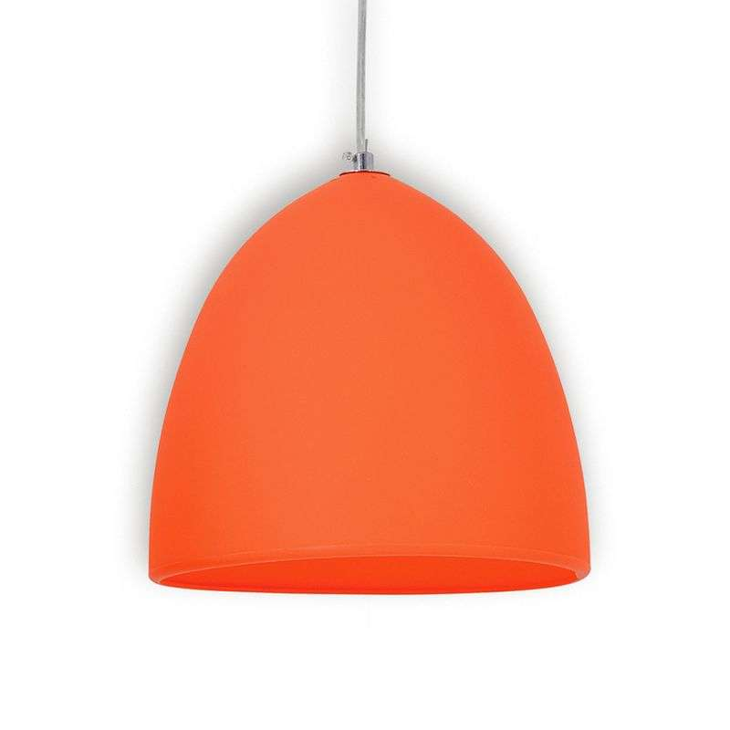 Oranje silicone hanglamp Fancy