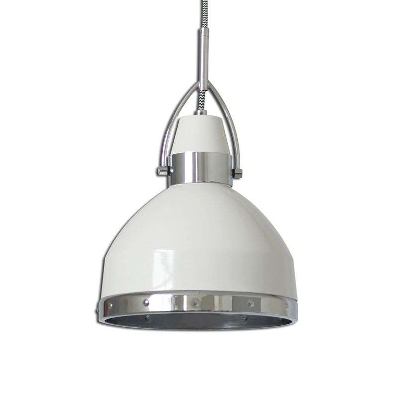 Witte hanglamp Britta in industrial design