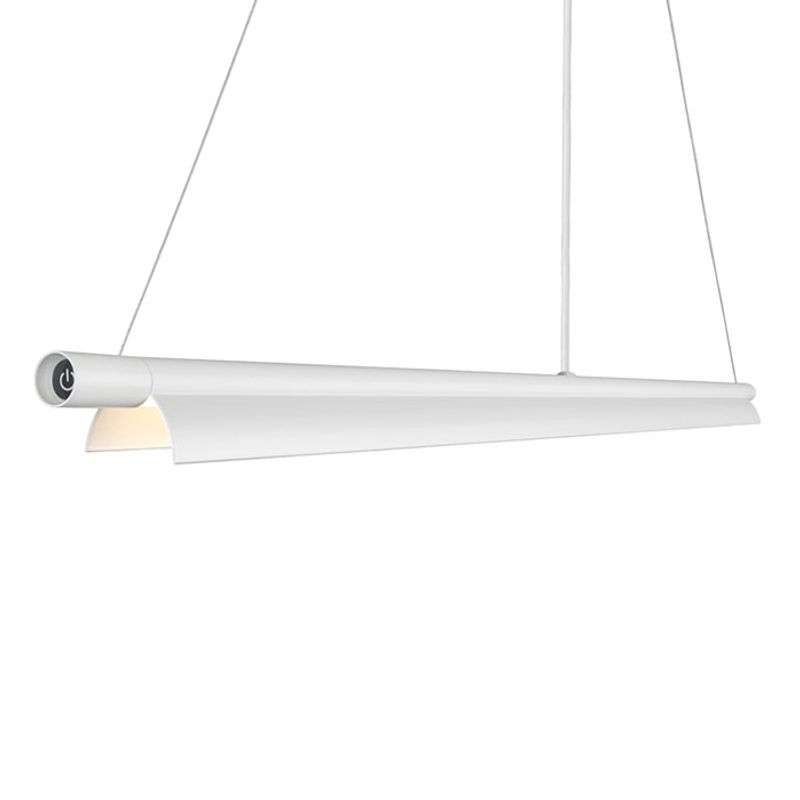 Langwerpige LED hanglamp Space B wit
