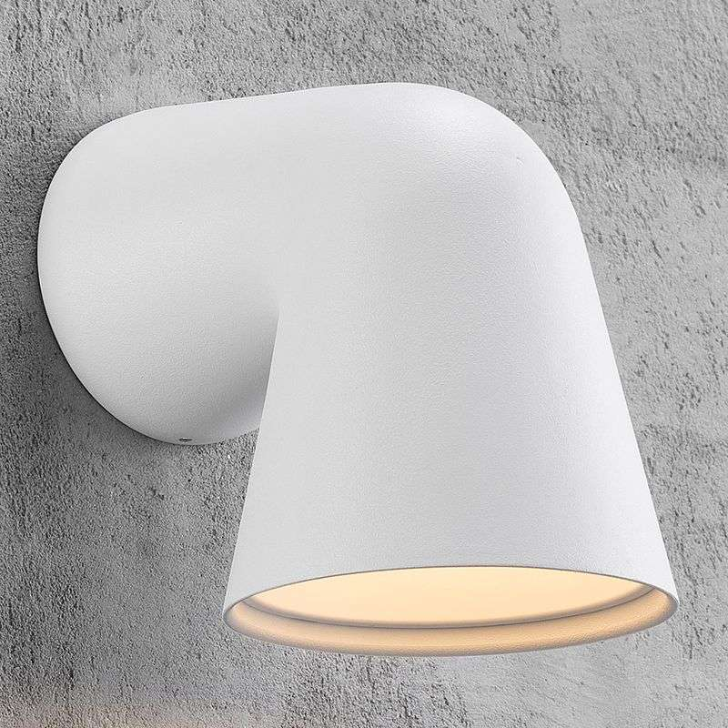 Moderne buitenwandlamp Front in wit