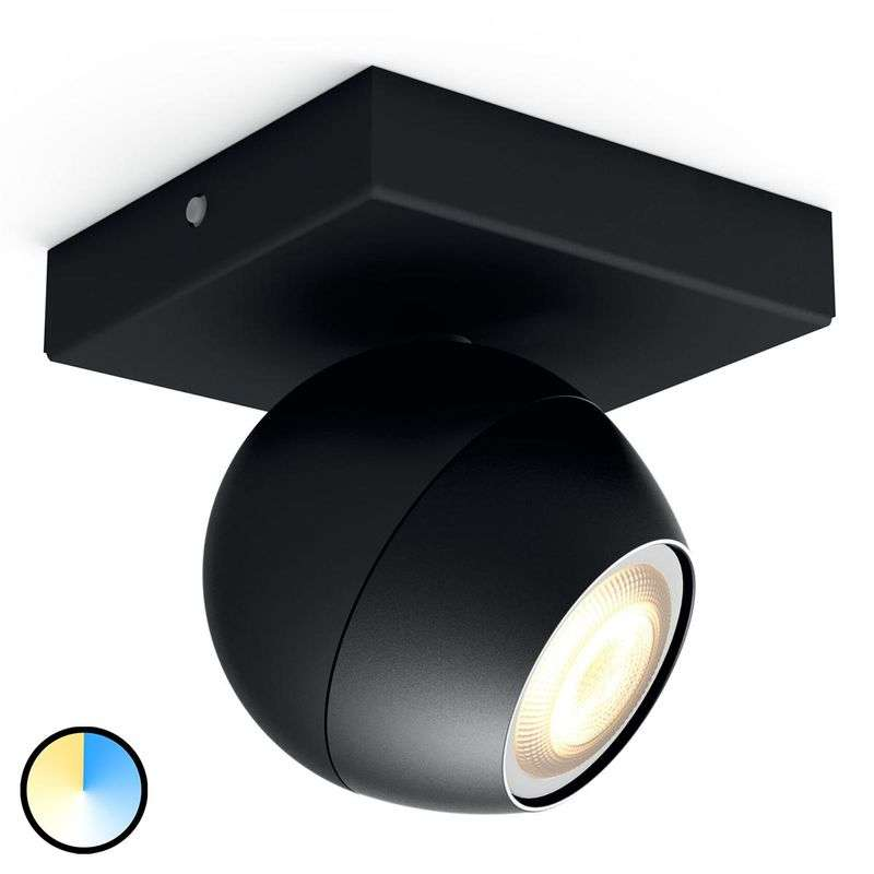 Philips Hue Buckram - 1 lamp. LED spot in zwart