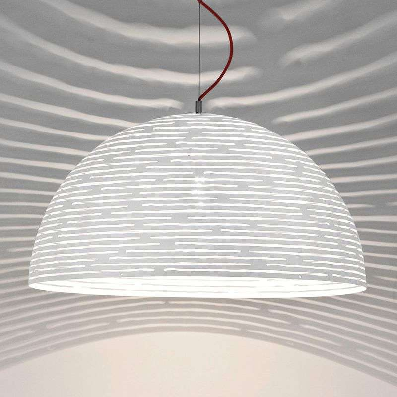 Grote hanglamp Magdalena, wit 70 cm