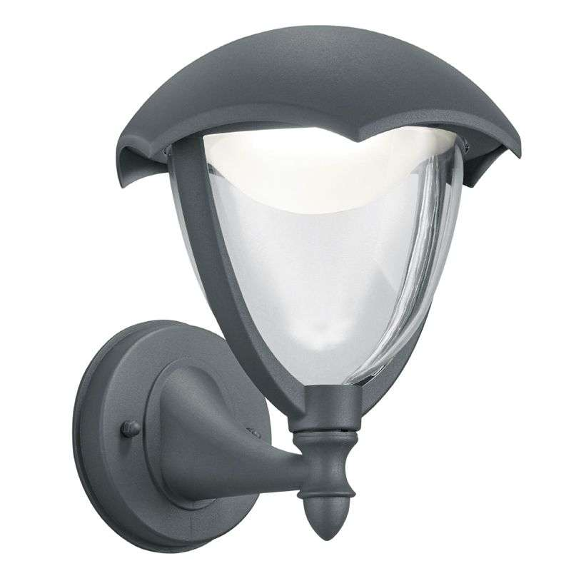 Antraciet Led outdoor wandlamp Gracht