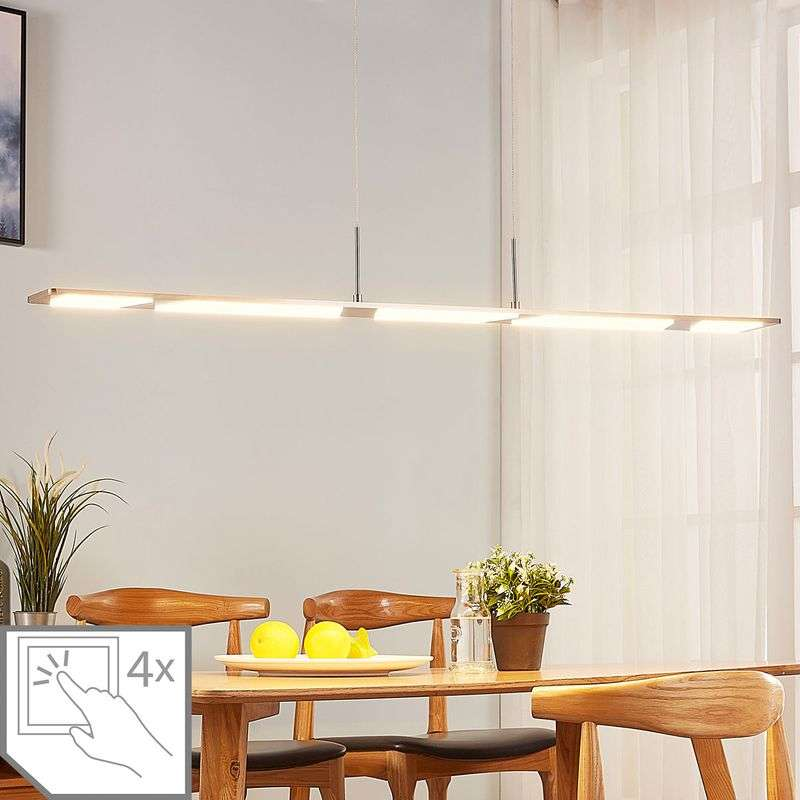 Felle LED hanglamp Stephanie, dimbaar