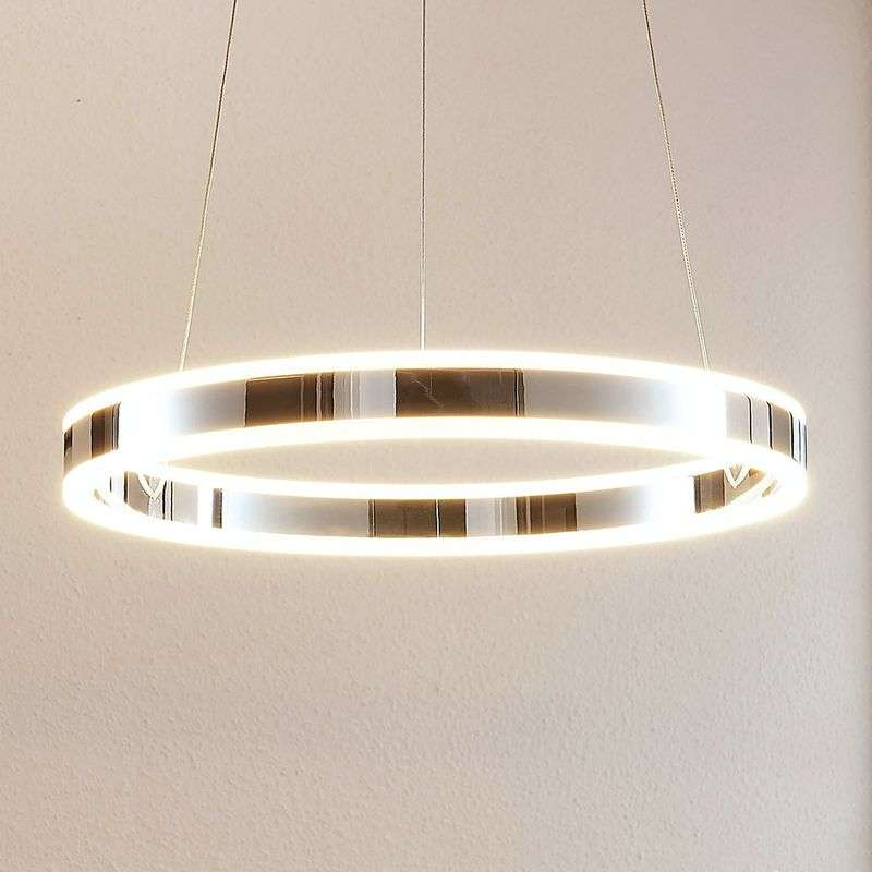 Dimbare LED-pendellamp Lyani - in chroom, 50 cm