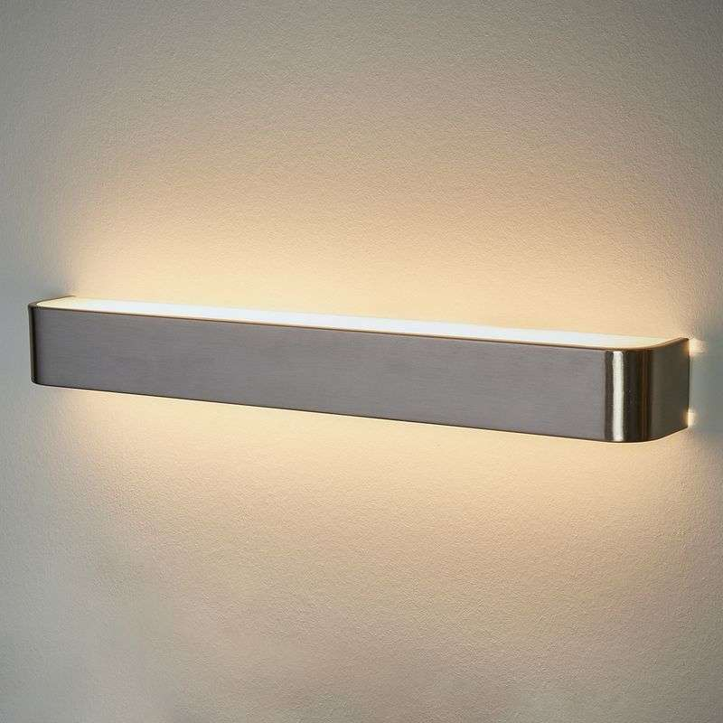 Lotti - LED wandlamp in nikkel finish