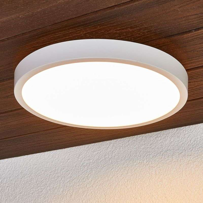 Ronde LED plafondlamp Augusta in wit