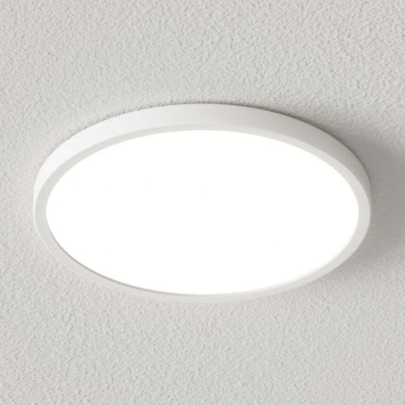 Dimbare LED plafondlamp Solvie in wit