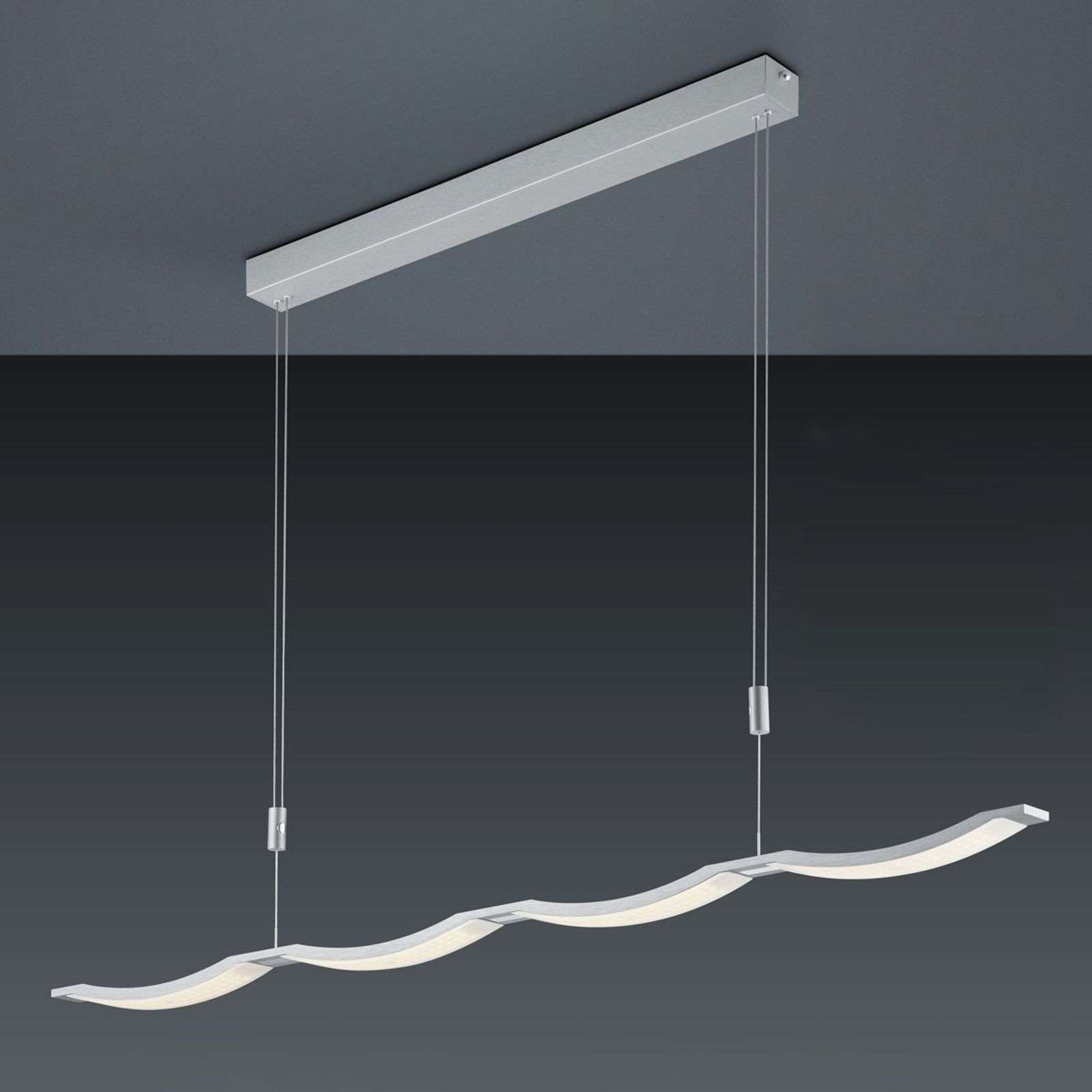 BANKAMP Surf LED hanglamp aluminium