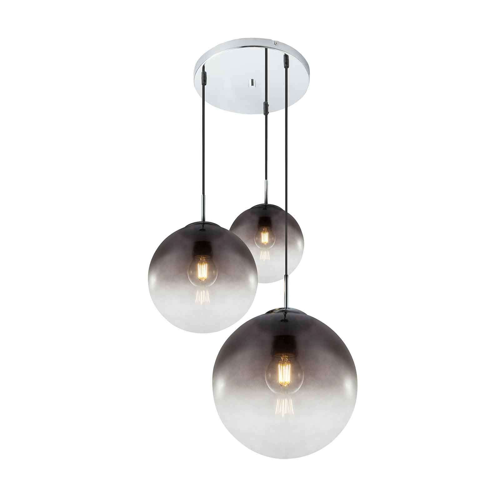 Lindby Robyn glazen hanglamp, 3-lamps
