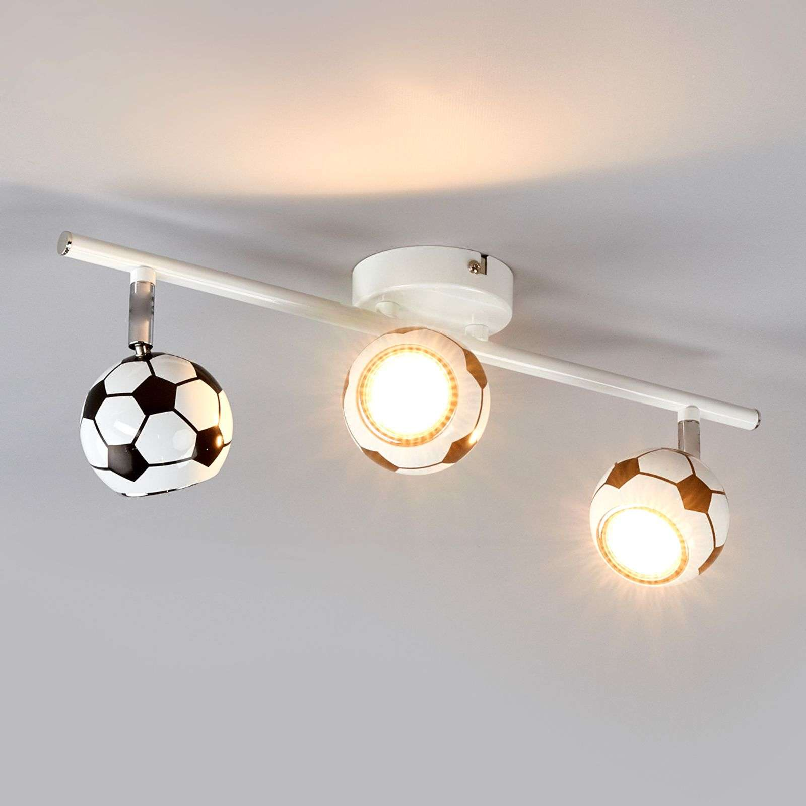 3-lichts Voetbal-plafondlamp Play met LED-licht