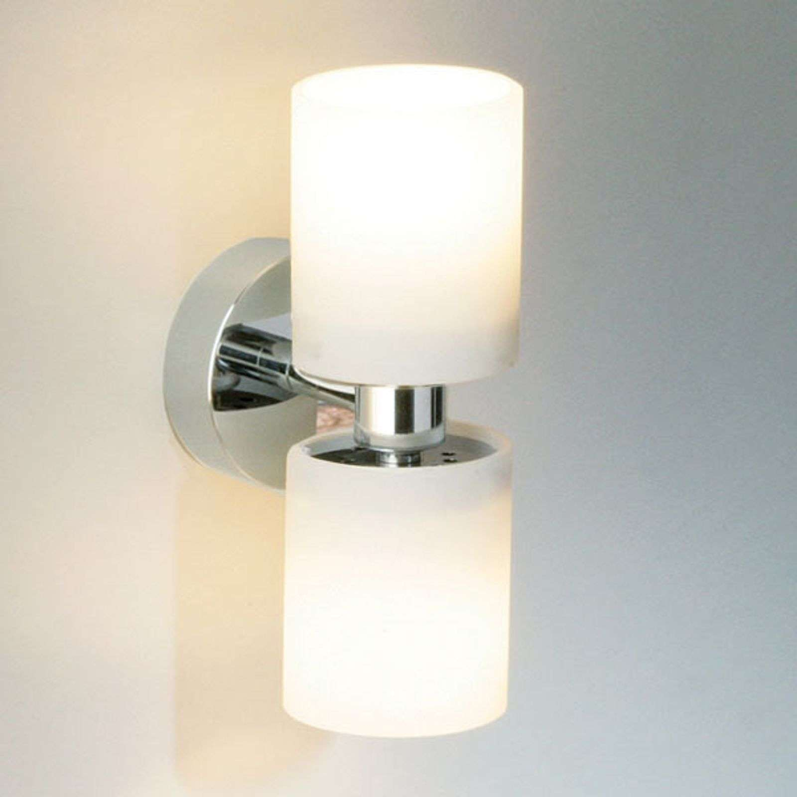 Wandlamp TUBE TWIN SHORT, chroom