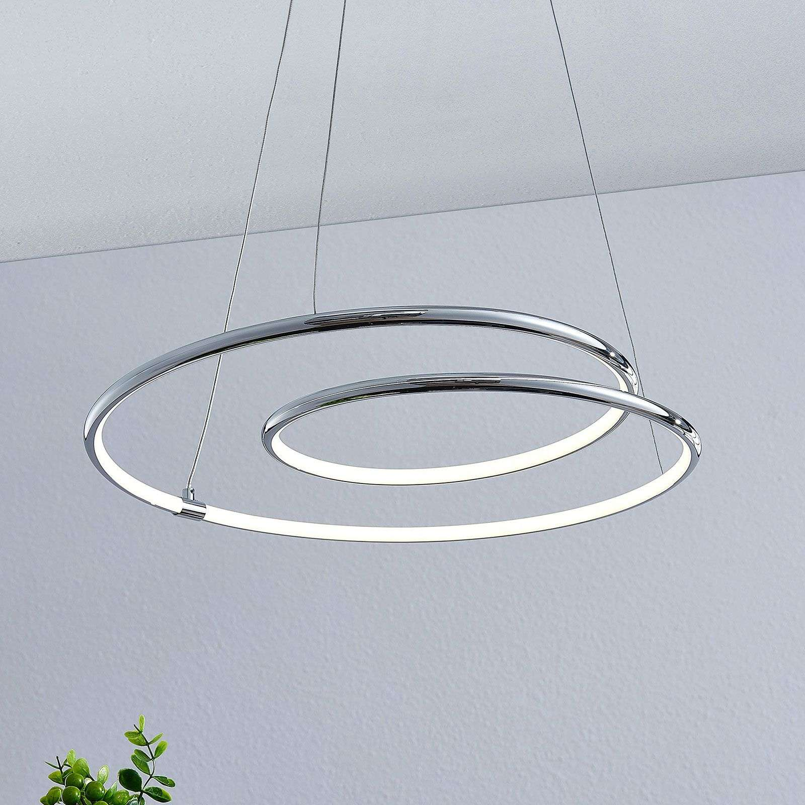 Lindby Lucy LED hanglamp, 45 cm, chroom