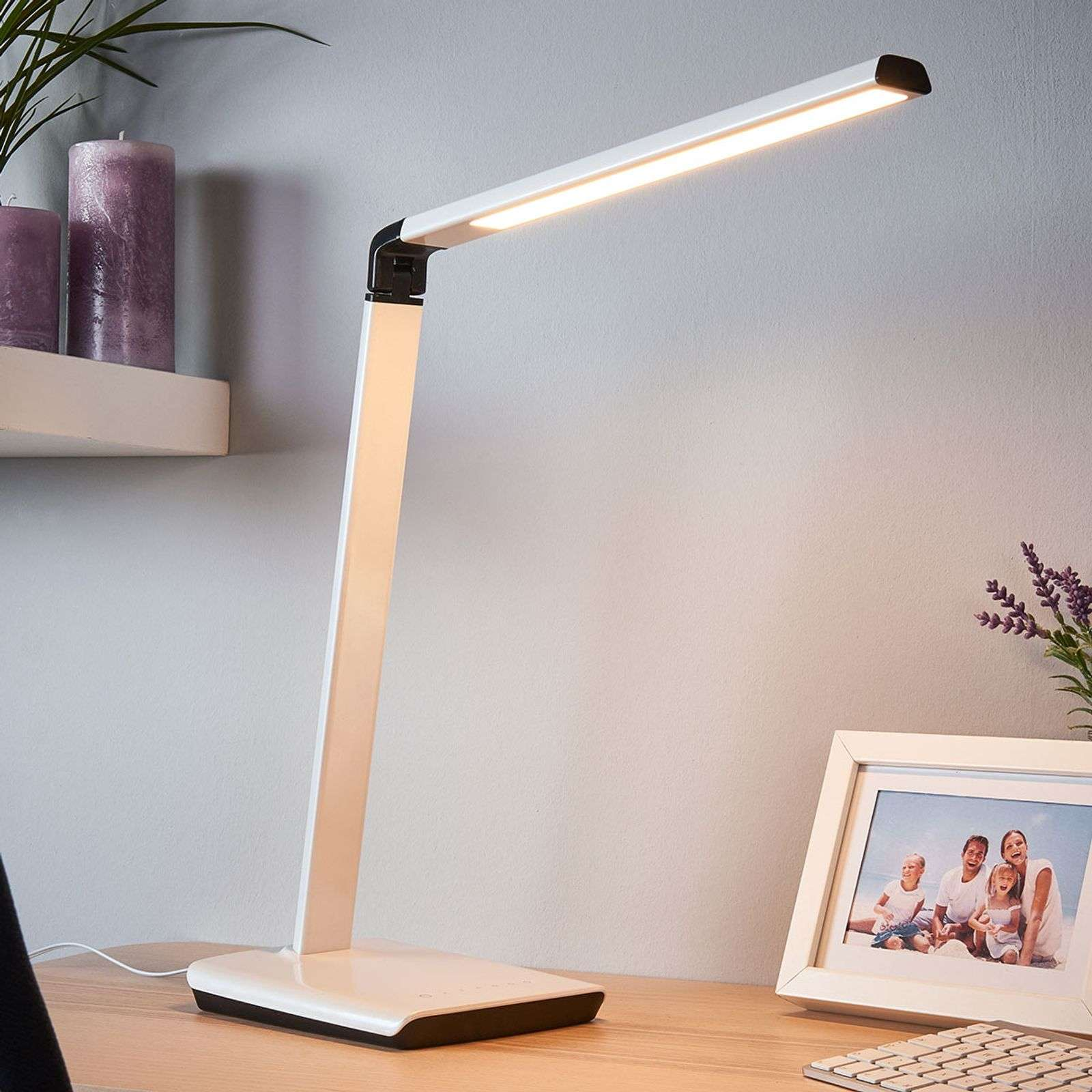 Led bureaulamp Kuno, USB-poort LED