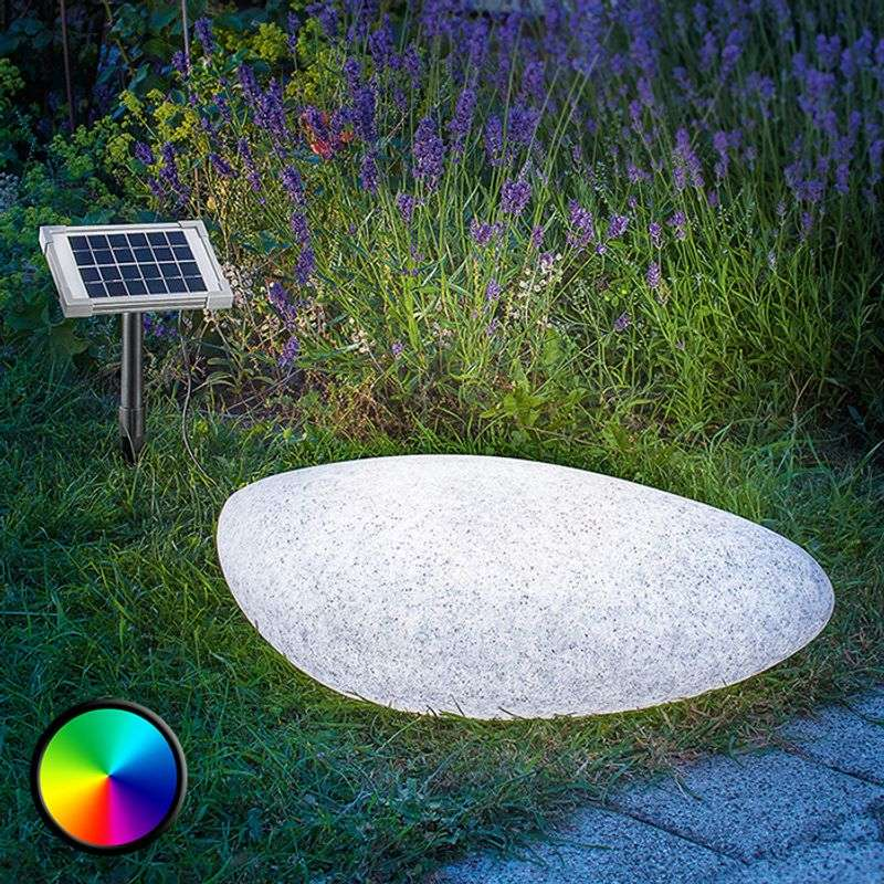 Decoratieve led-solarlamp Stone 40