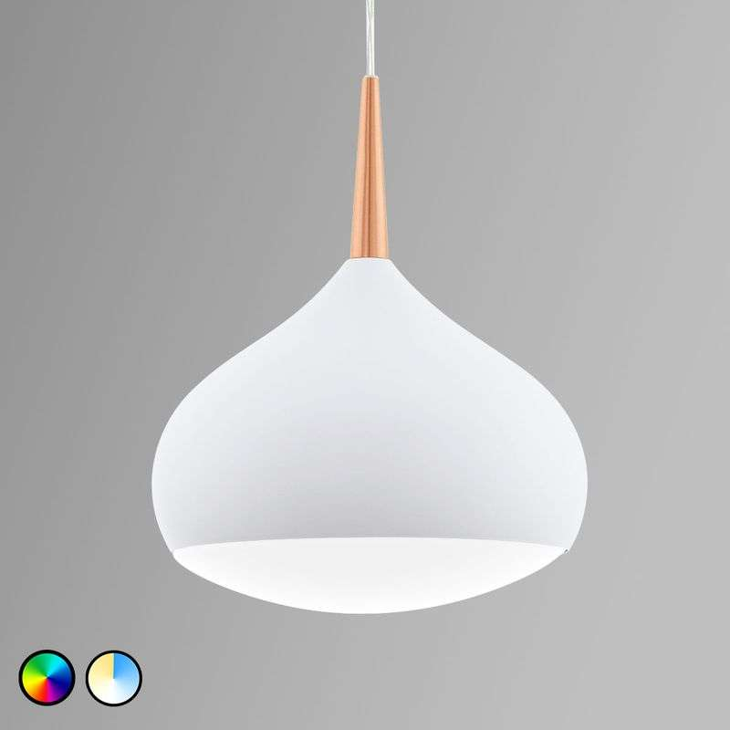 EGLO connect Comba-C LED hanglamp wit-koper