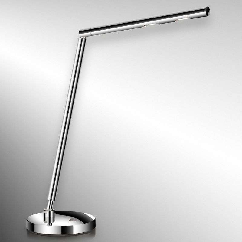 tijdloze LED-bureaulamp Glance, chroom