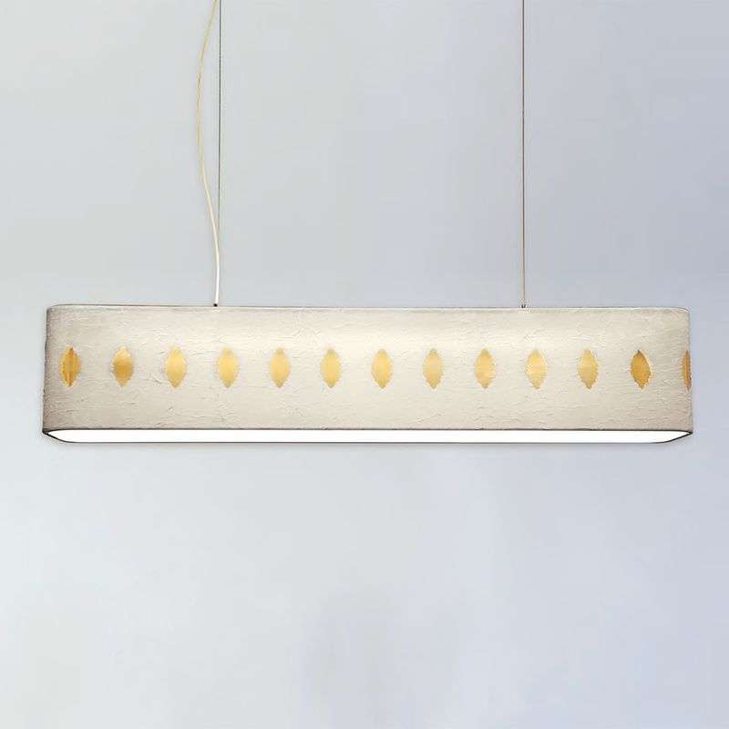 Grote stoffen hanglamp Lavina, 160 cm, wit