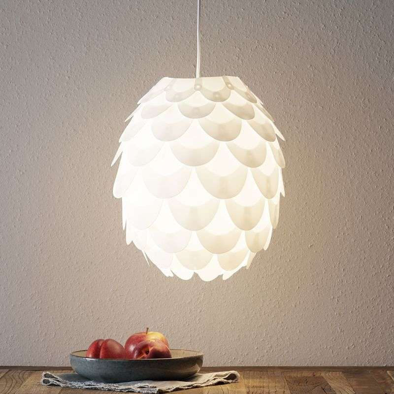 Hanglamp Marees in wit, Ø 30 cm