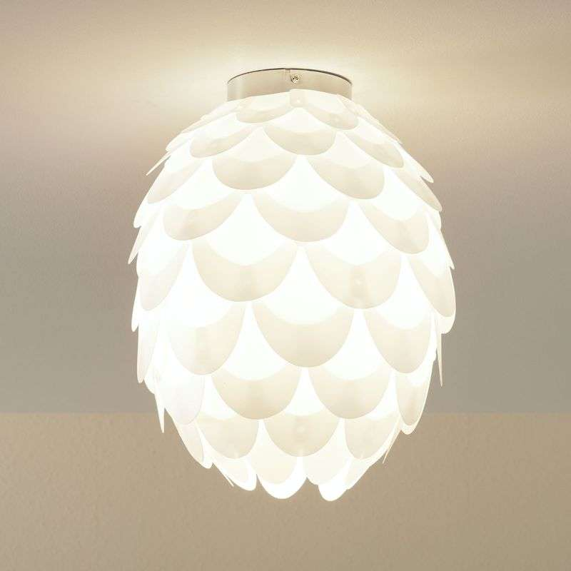 Plafondlamp Marees in wit, ovaal