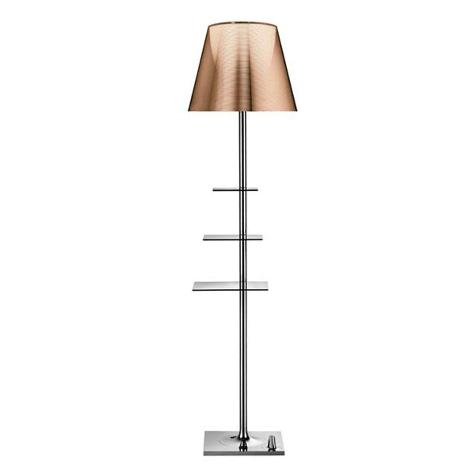 Design-vloerlamp Bibliotheque Nationale, brons