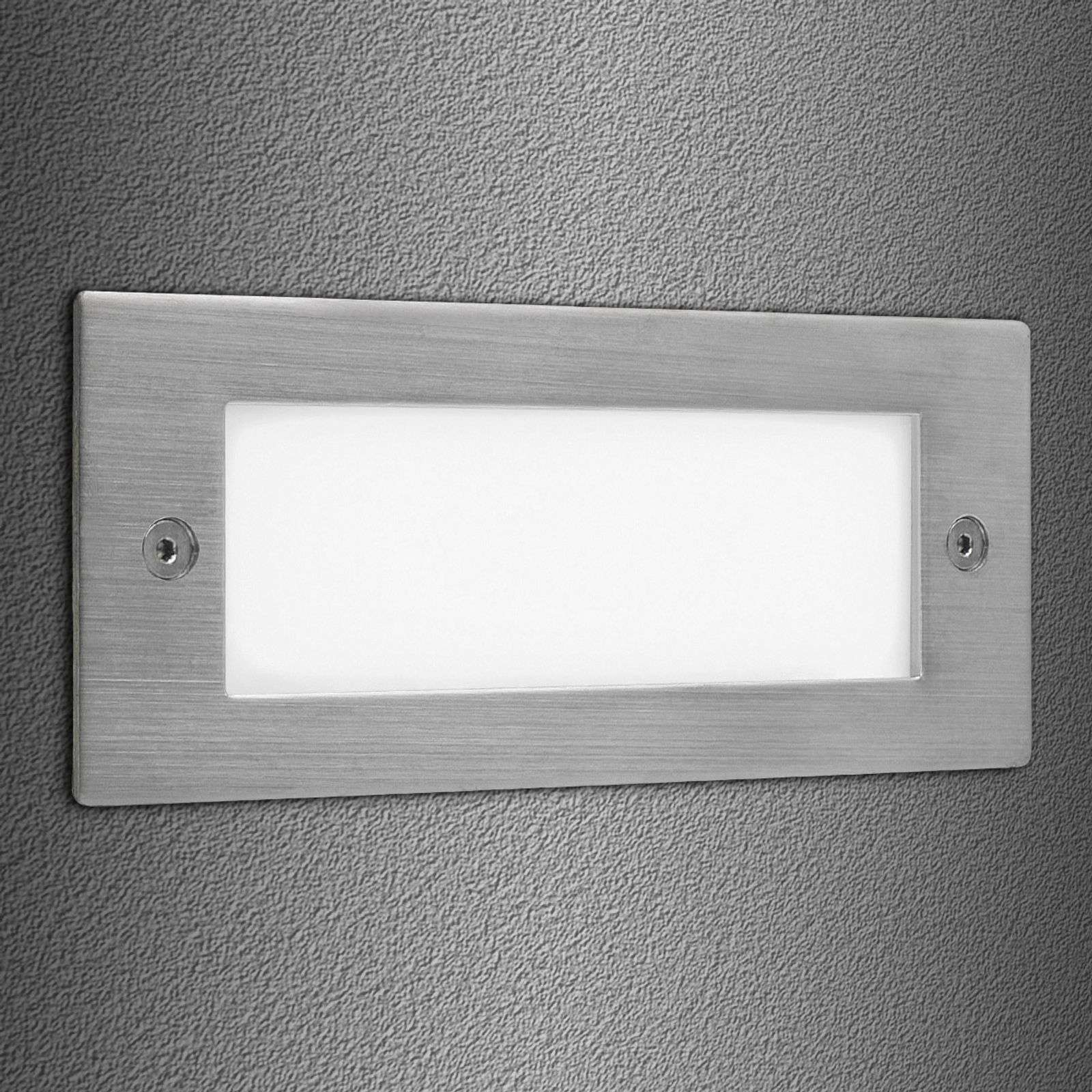 Wandinbouwspot Brick LED 16 wit