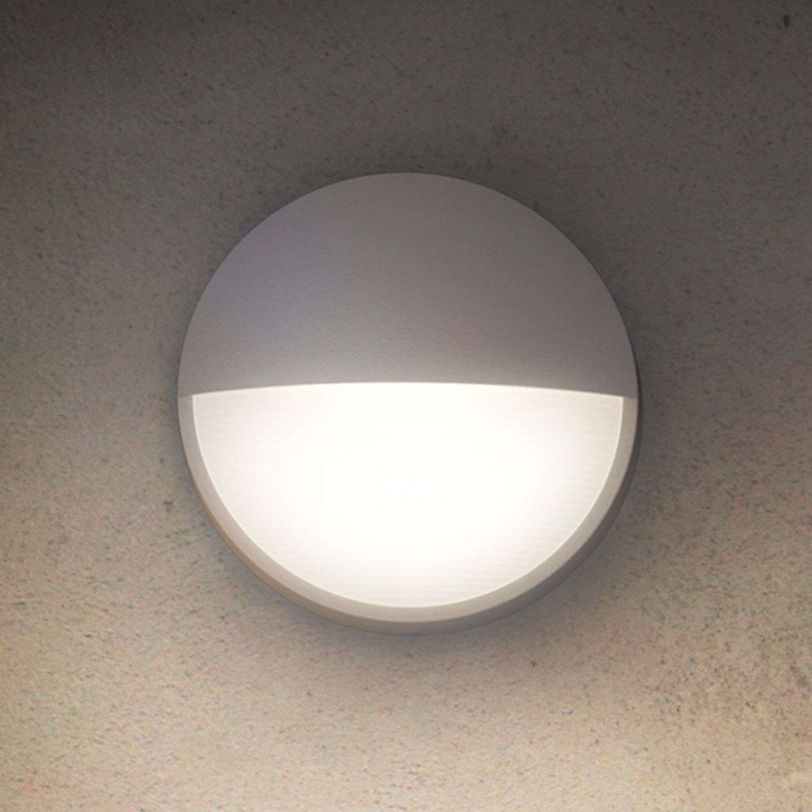 Ronde outdoor wandlamp Capricorn met LED licht