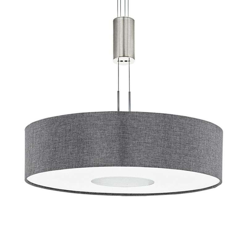 In hoogte verstelbare textiele LED-hanglamp Romano